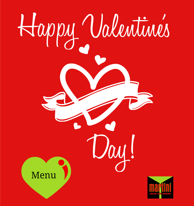 Valentine day menu pop up 2016 Martinis